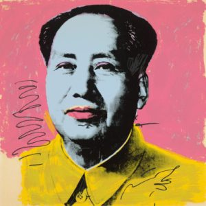 Andy Warhol (American, 1928–1987). Mao (II.91), 1972. Screenprint. 36 x 36 inches. Courtesy of Jordan D. Schnitzer and His Family Foundation. © 2016 The Andy Warhol Foundation for the Visual Arts, Inc./Artists Rights Society (ARS), New York